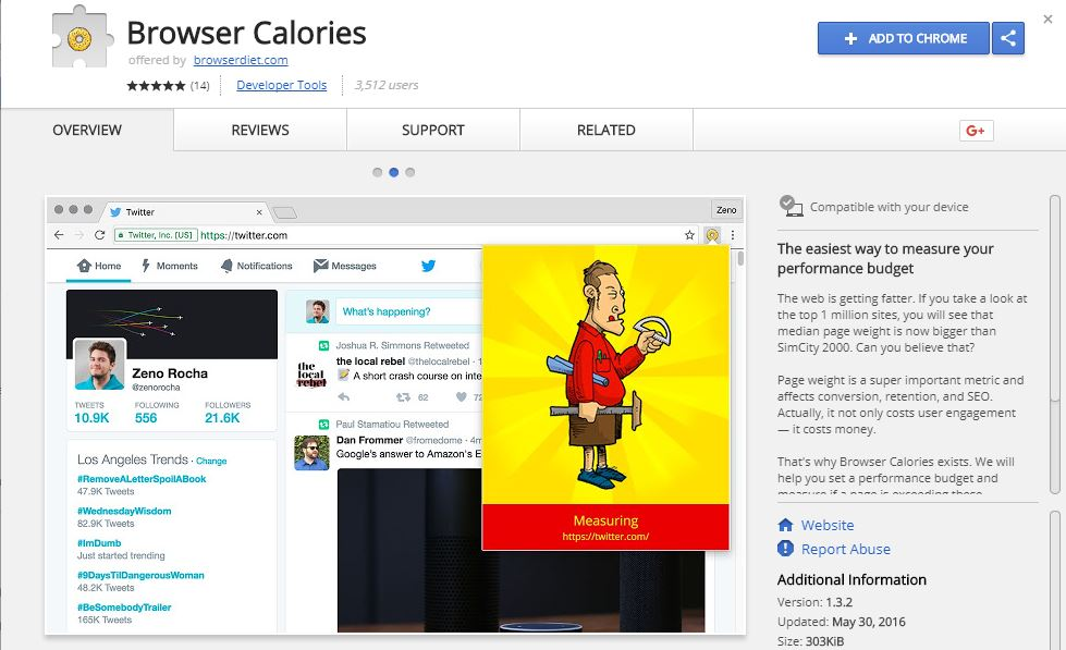 Browser Calories -Measure Your Performance Budget