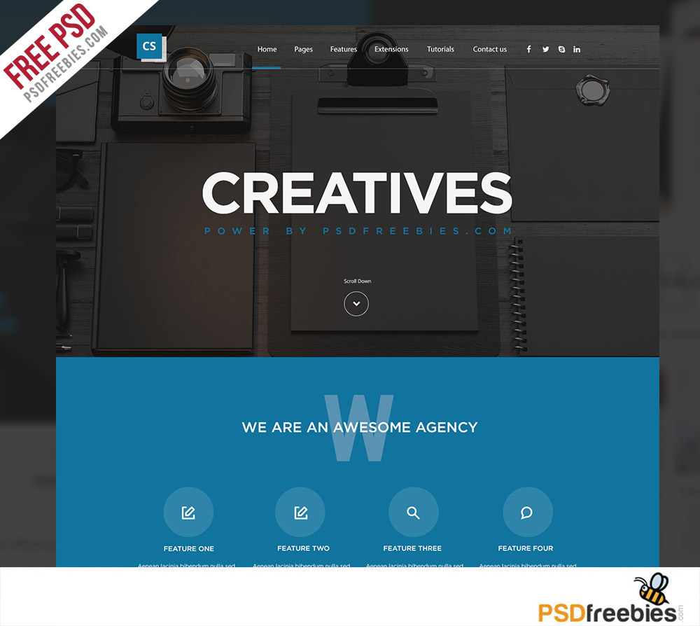 Digital Agency Website Template Free PSD