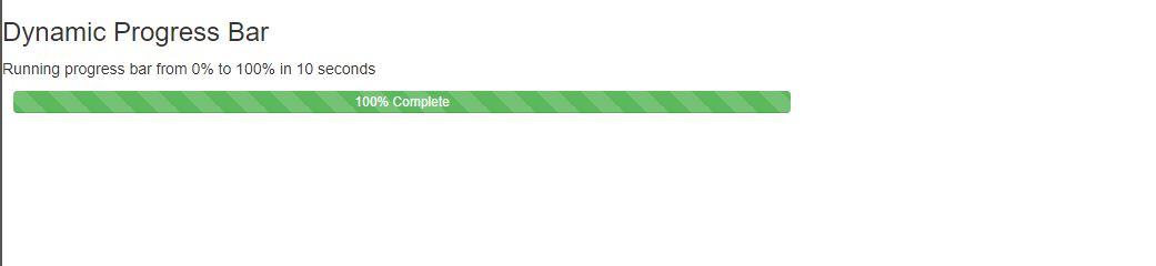 Dynamic Progress Bar