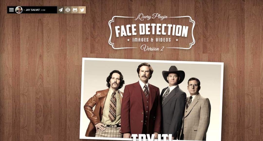 Face Detection jQuery Plugin
