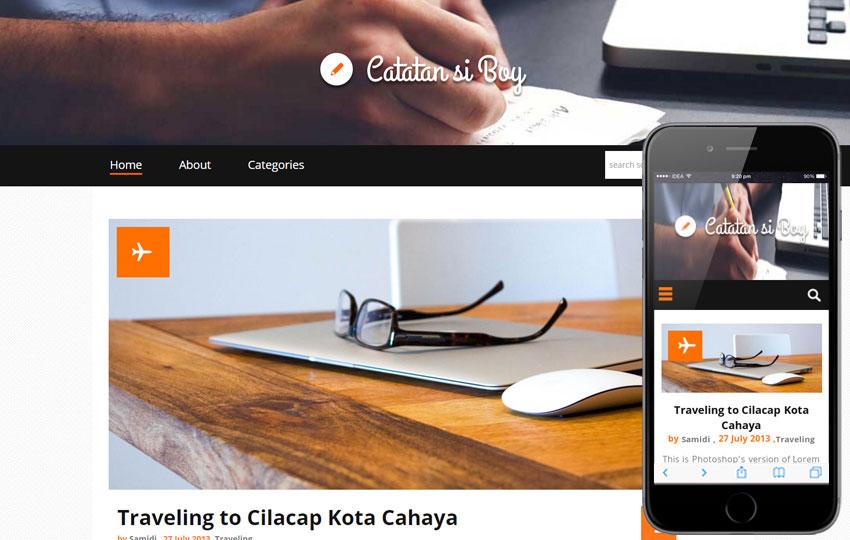 Flat Responsive Bootstrap Blog Template