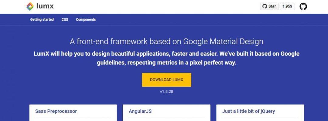 LumX - Material Design Front End Framework