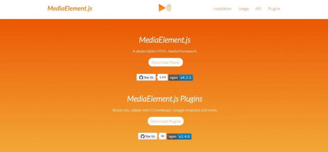 MediaElement.jsHTML Media Framework