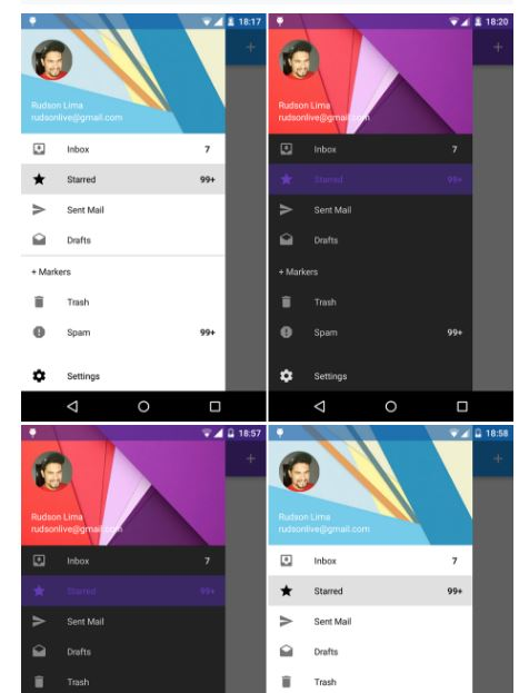 Navigation Drawer Material Design