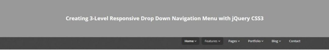 Responsive Drop Down Nav Menu with jQuery and CSS3