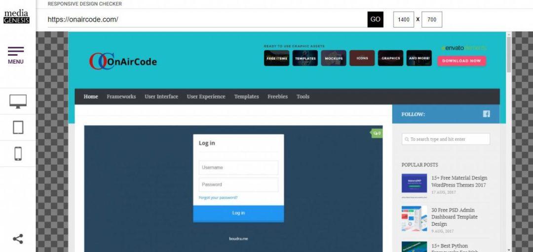 Responsive Website Design Checker