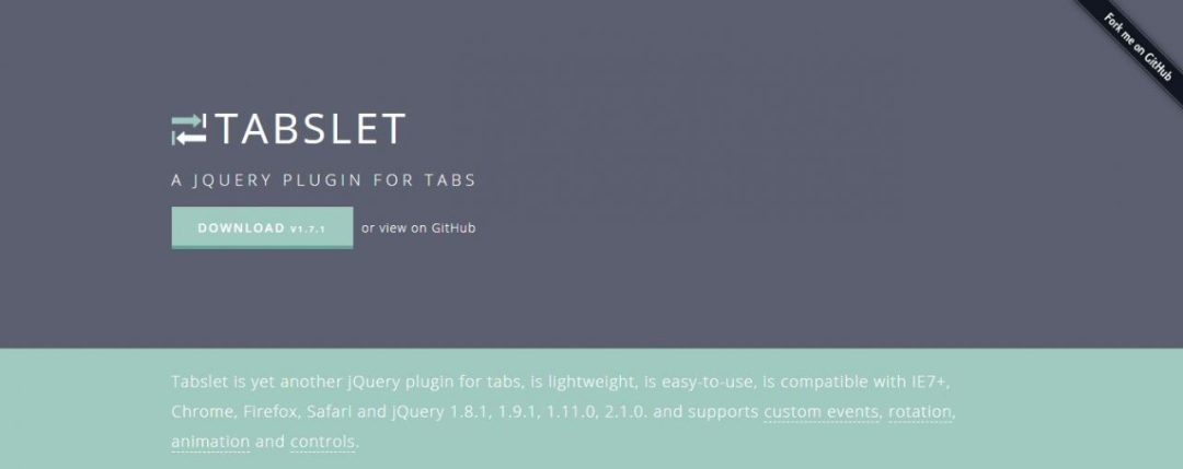 Tabslet -jQuery Plugin For Tabs