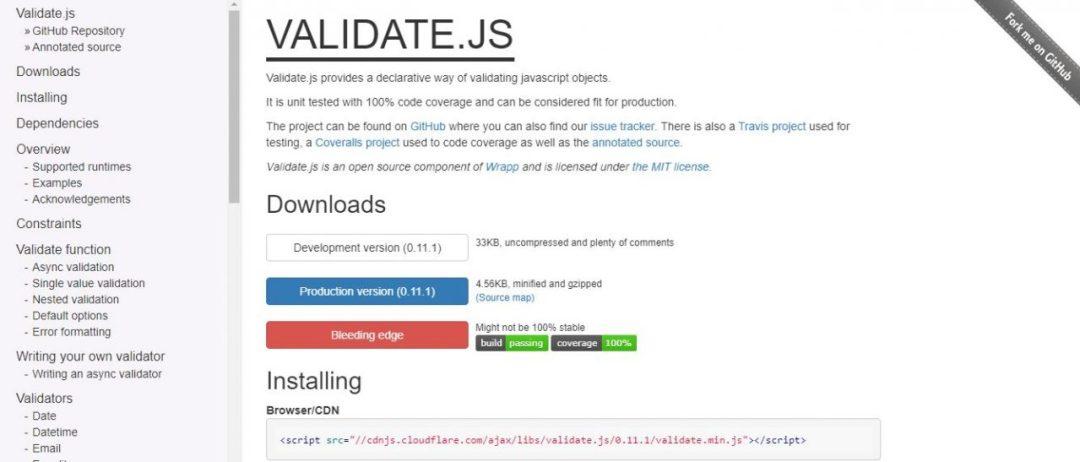 VALIDATOR.JS Best JavaScript Form Libraries