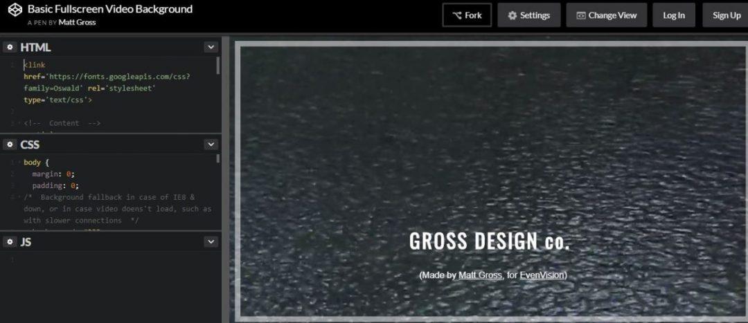 Basic Fullscreen Video Background