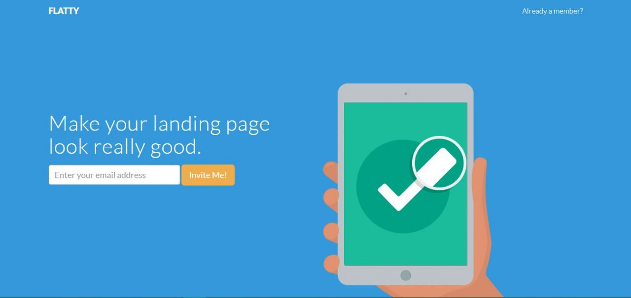 Bootstrap landing page design