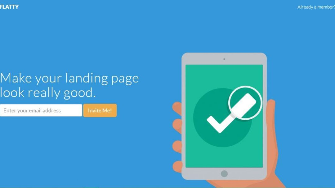 Flatty - Best Free Bootstrap Landing Pages