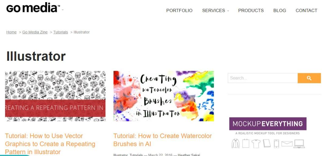 GoMediaZine Adobe Illustrator Tutorials