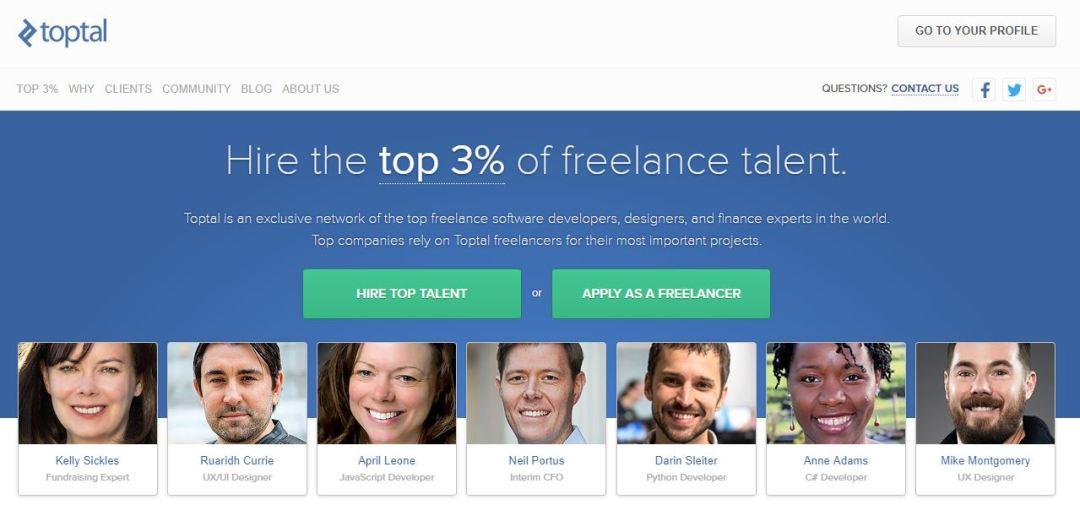 Toptal -Hire Top 3% Freelance Talent