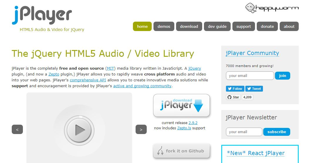 jPlayer Audio and Video Library