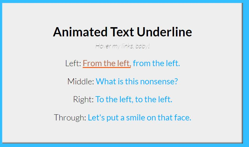 Animated Text Underline Code