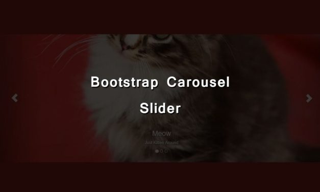 Full Screen Responsive Bootstrap Carousel Slider
