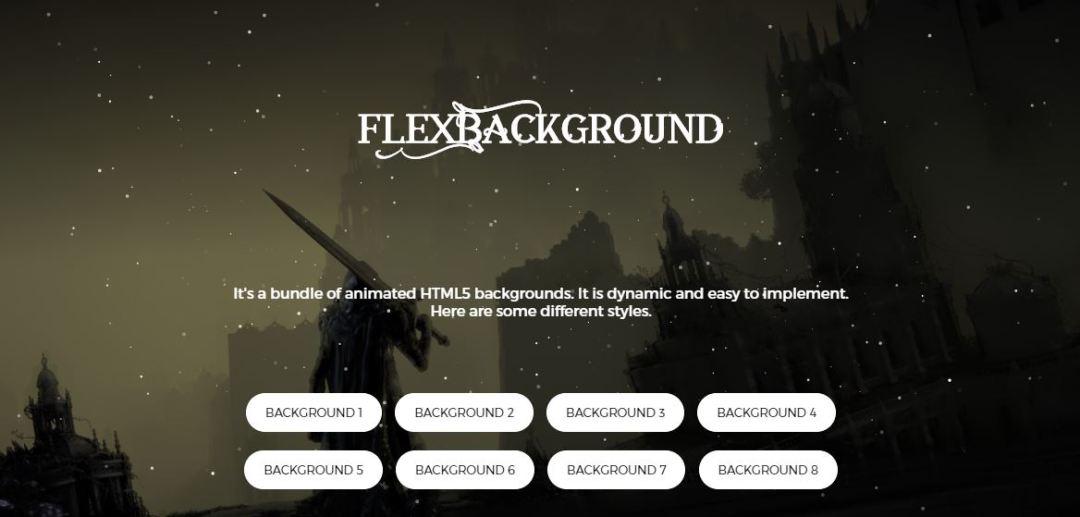 FlexBackgroud - HTML5 Animated Background