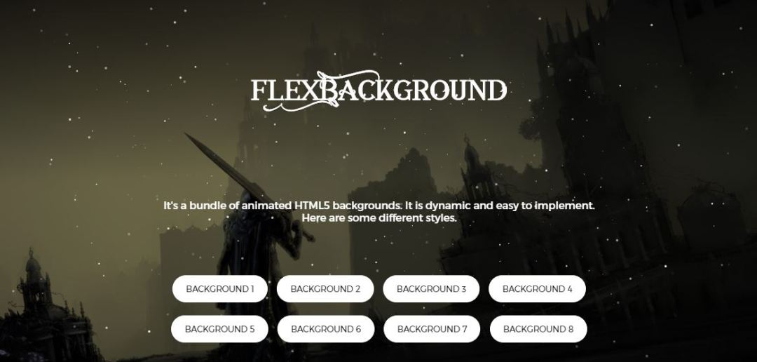 FlexBackgroud - HTML5 Animated Background