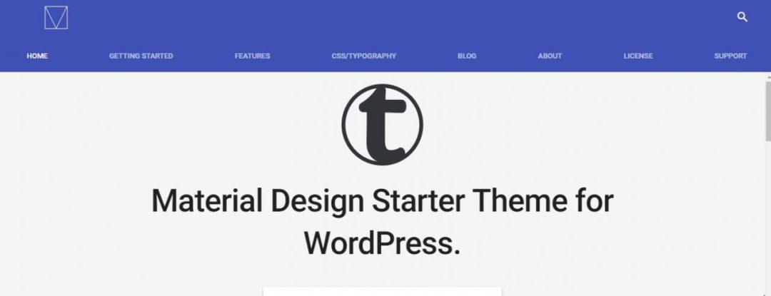 Material Design Starter Theme