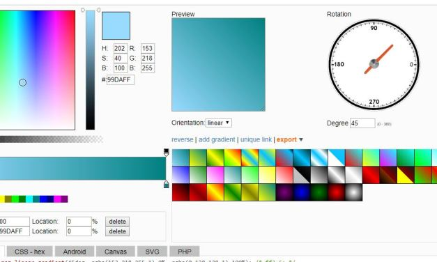 Ultimate CSS Gradient Code Generators