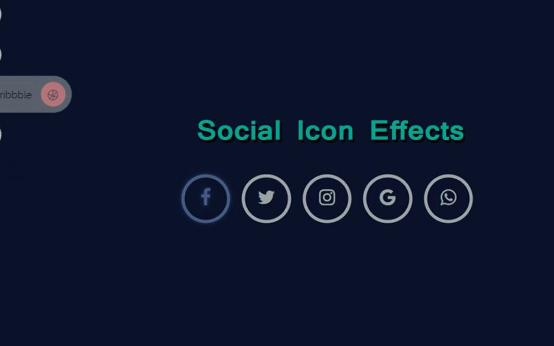 Social Icon Hover Effects