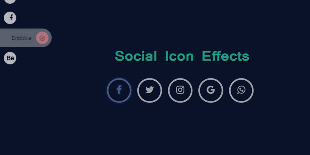 Beautiful Animated Social Icon Hover Effects