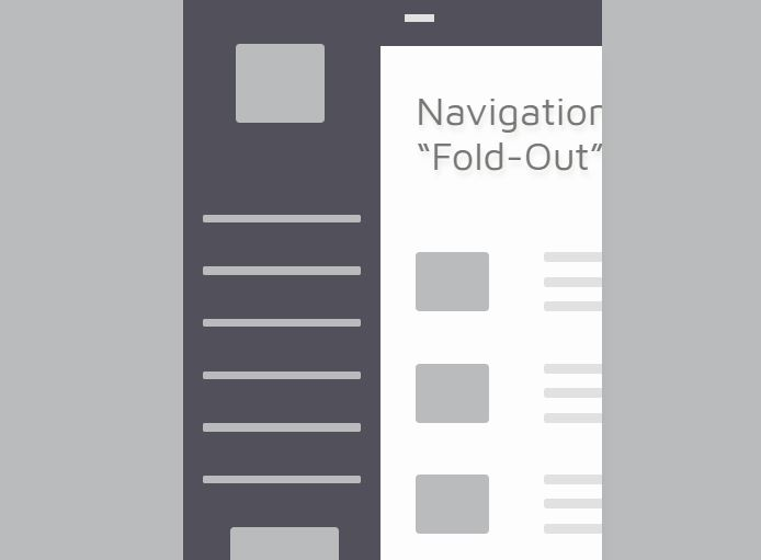 The Fold Menu Navigation