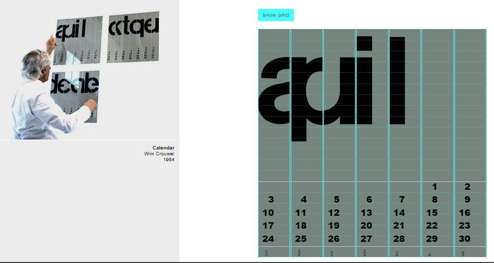 Wim Crouwel's Calendar CSS Grid