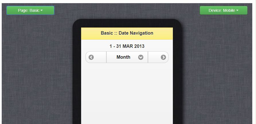 jQuery Mobile Date Navigation