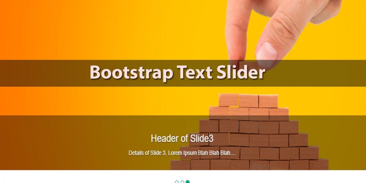 10+ Beautiful Bootstrap Text Slider Snippet