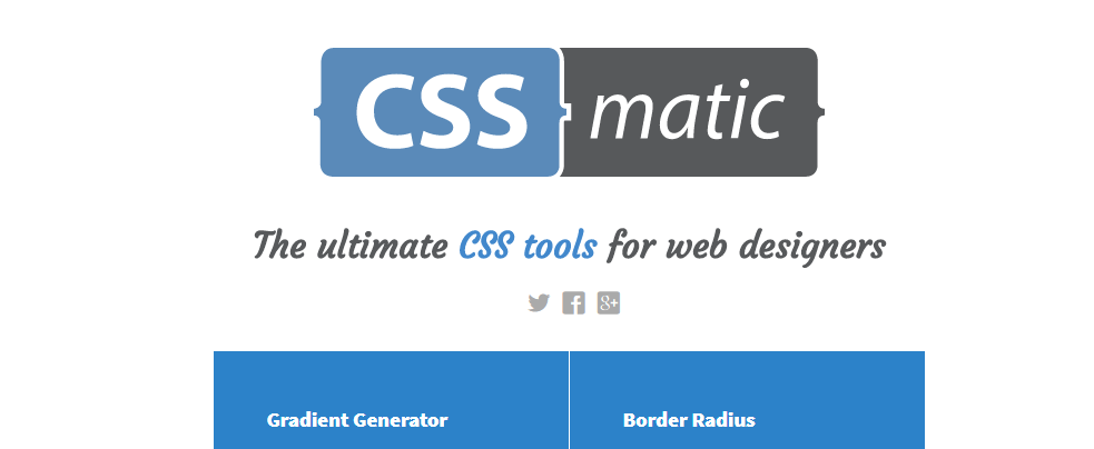 CSS Matic – Ultimate CSS Tools