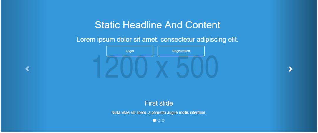 Carousel Static Headline Caption