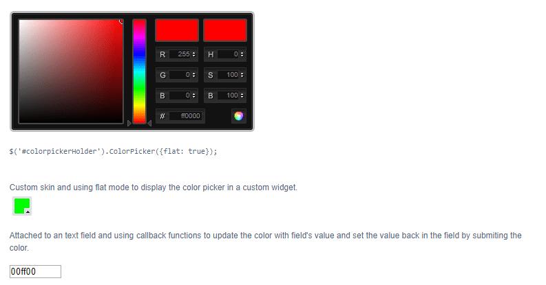 Color Picker Jquery Plugin