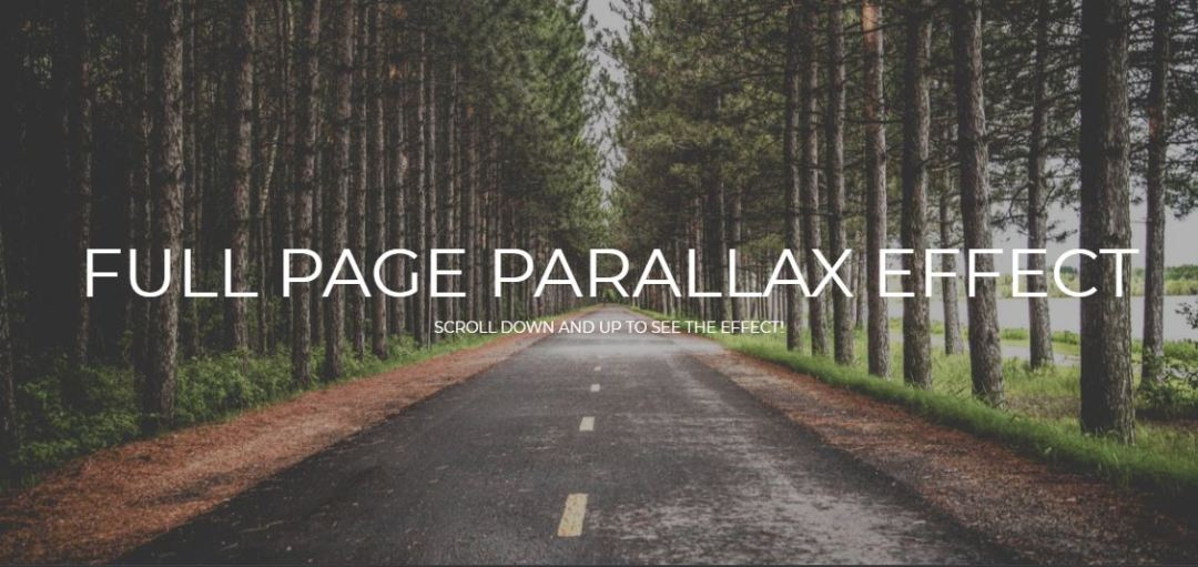 Full Page Parallax Scroll Effect
