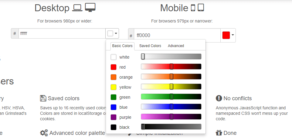 Pick-a-color for Twitter Bootstrap