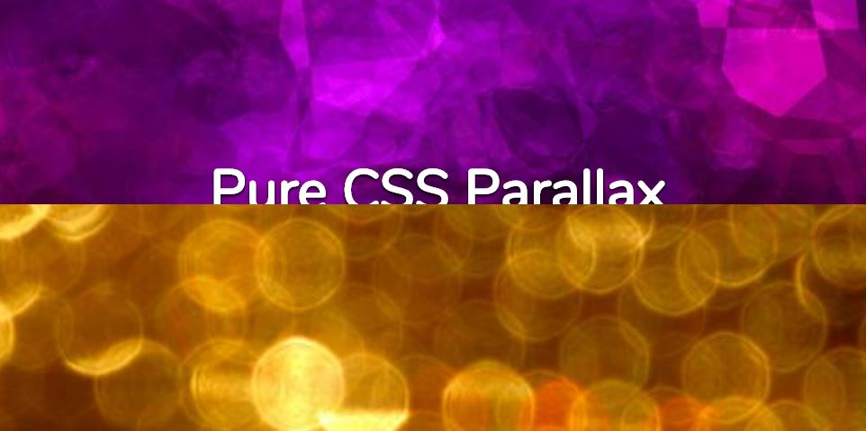 Pure CSS Parallax