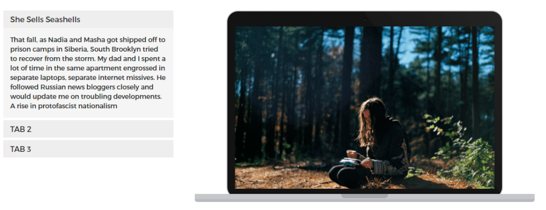 Tabbed Macbook Mockup Slider