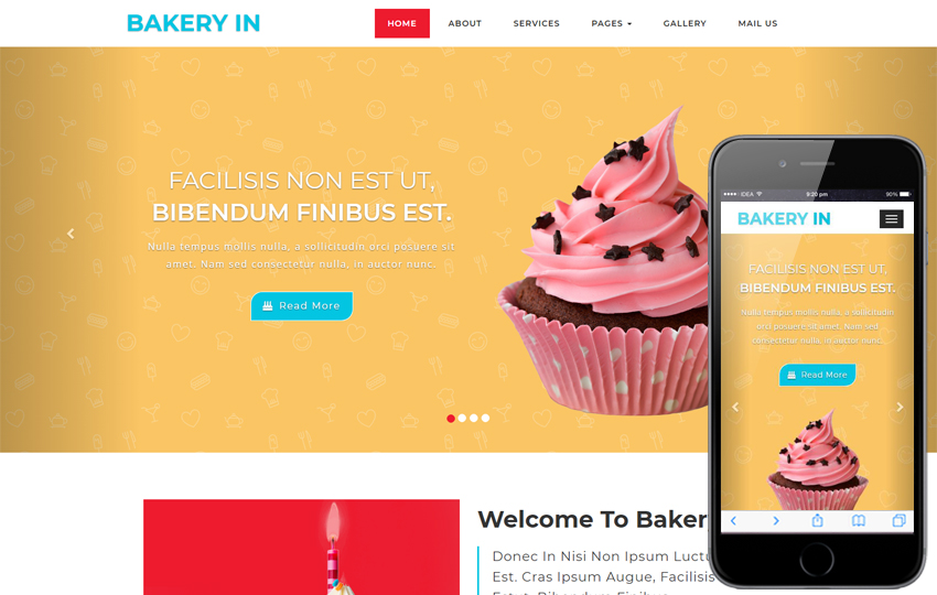 Bakery Hotel Web Template