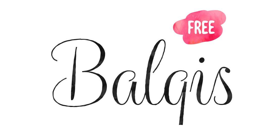 Balqis Free Font