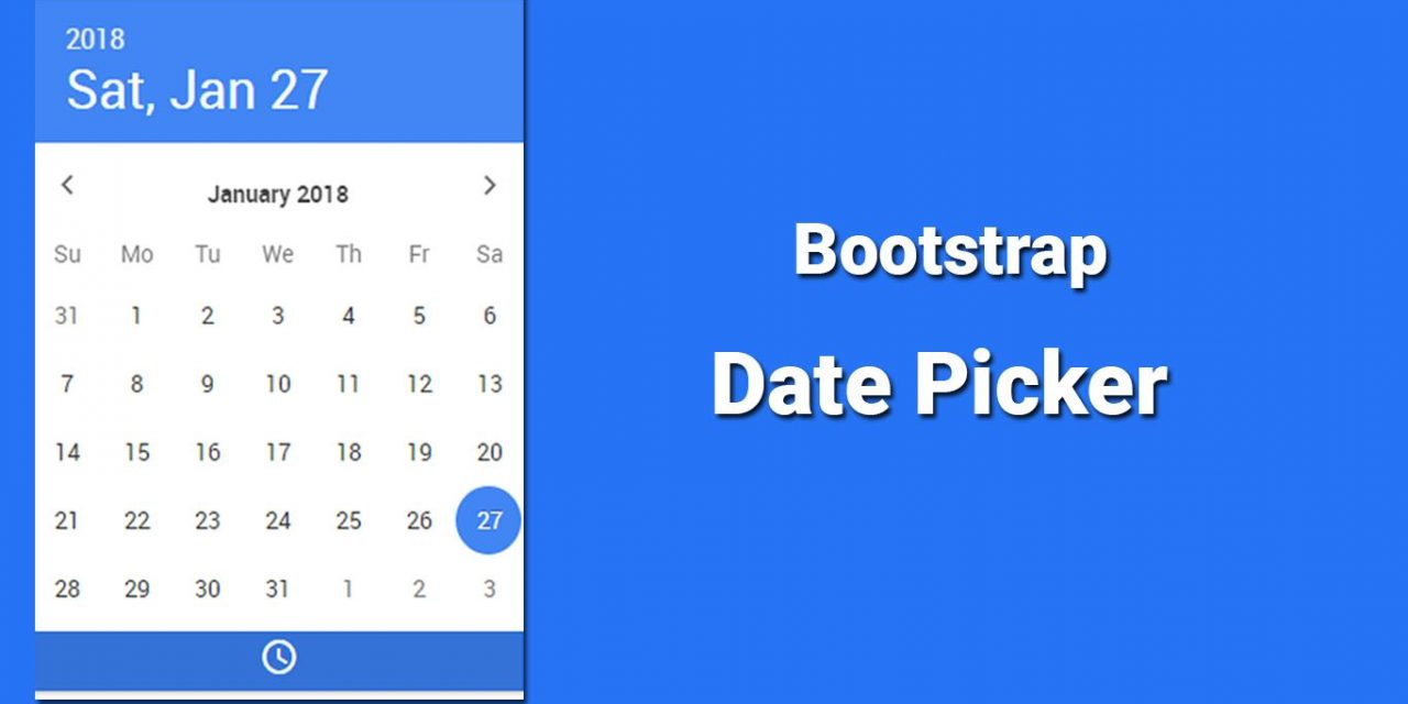 10+ Date Picker For Bootstrap