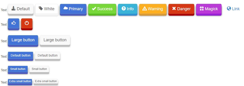 CSS3 3D Button Effects