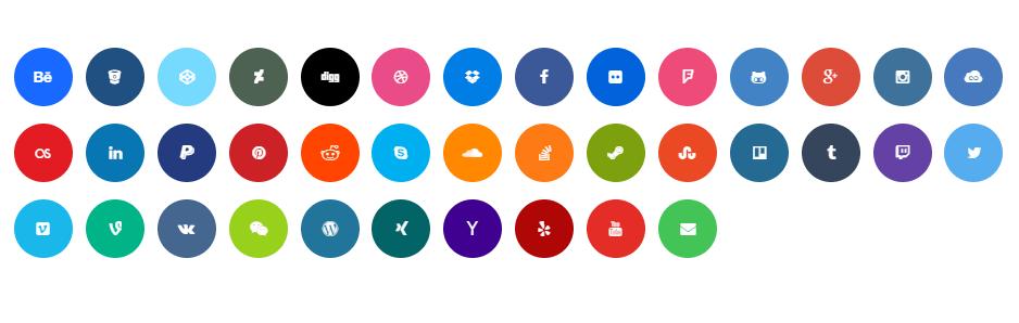 Circular Social Button