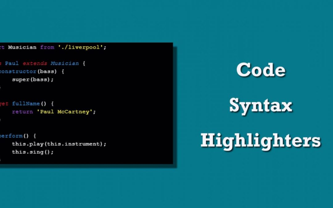 JavaScript Code Syntax Highlighters