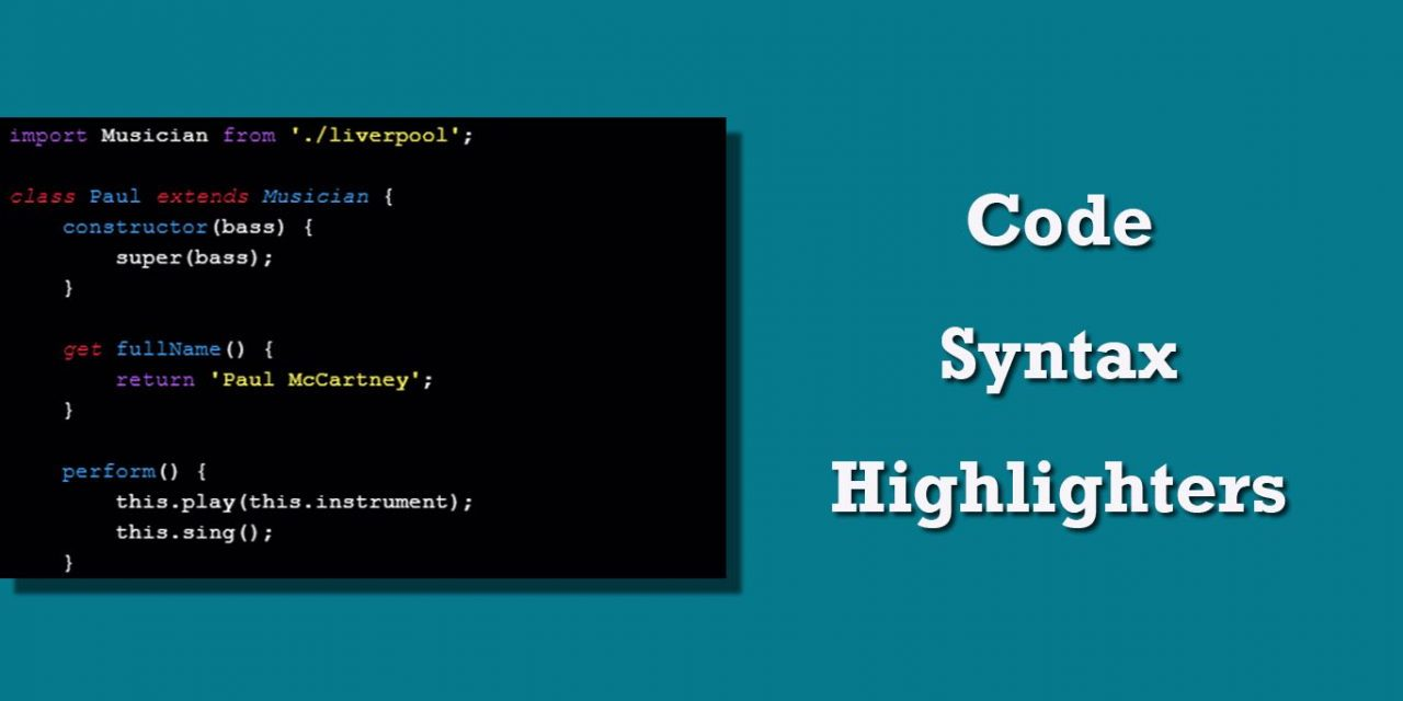 Best JavaScript Code Syntax Highlighters