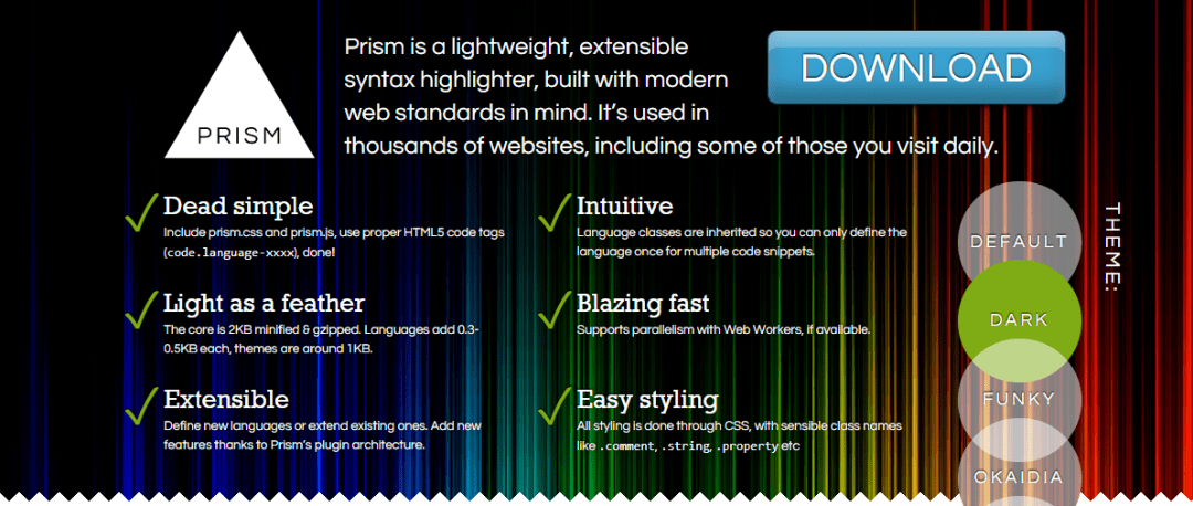 Prism – Lightweight Syntax Highlighter