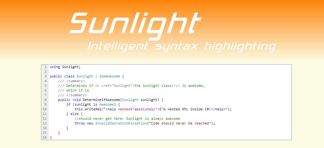 Sunlight: Intelligent Syntax Highlighting