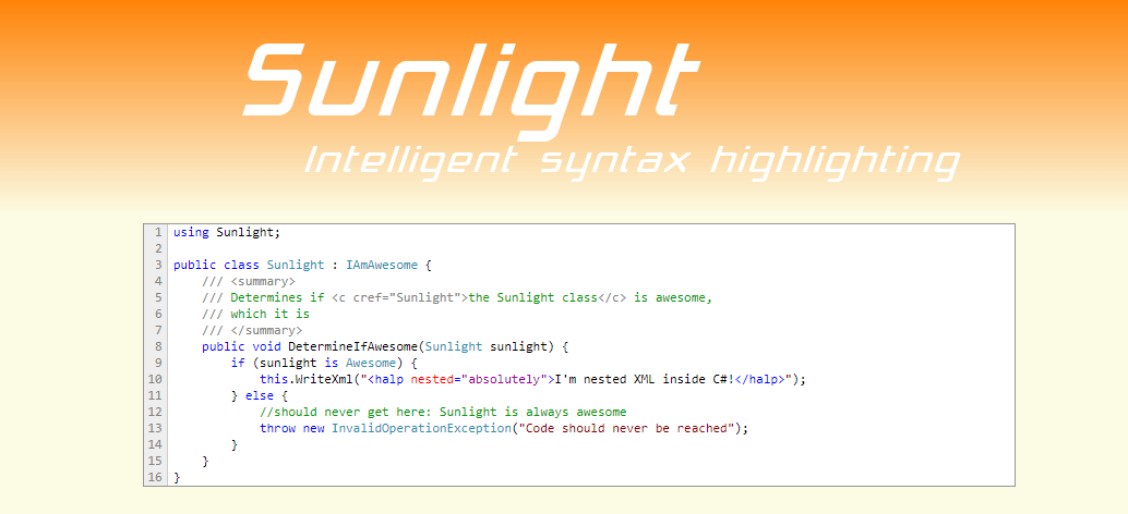 Sunlight: Intelligent Syntax Highlighting