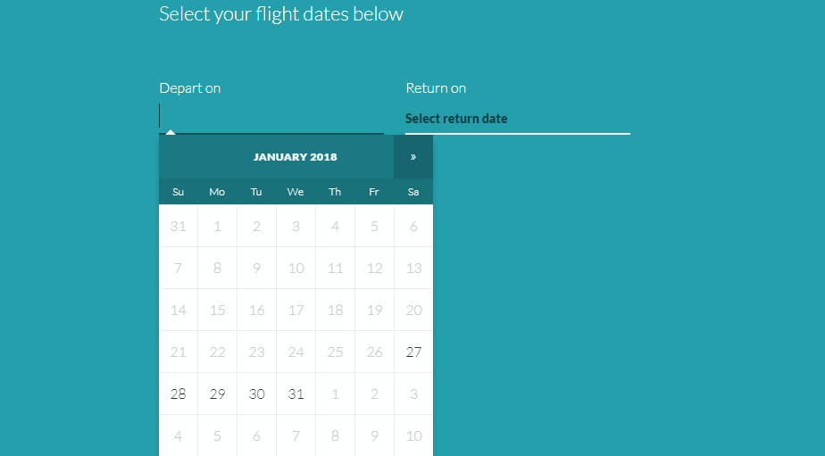 Moon Flights Bootstrap Date picker