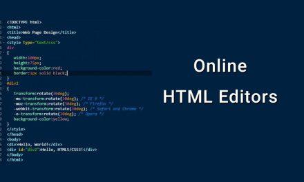 10 Best Free Online HTML Editors