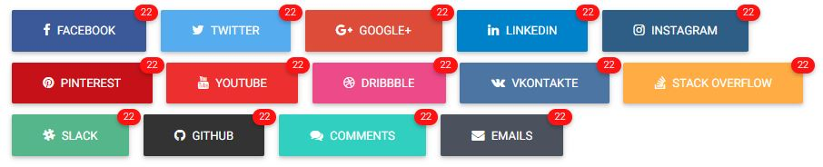 Bootstrap Social Buttons-3-social counters